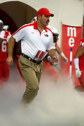 24 September 2011: Brock Spack exits the team tunnel during an NCAA football game between the South Dakota State Jackrabbits (SDSU) and the Illinois State Redbirds (ISU) at Hancock Stadium in Normal Illinois.