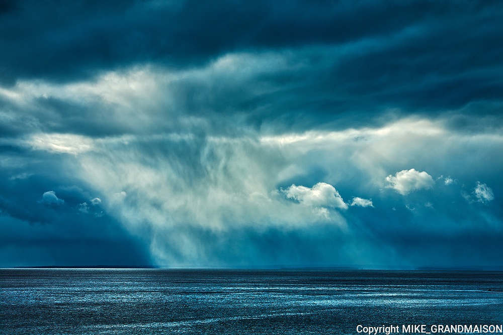 Storm clouds on the Cabot Strait <br />Wreck Cove<br />Nova Scotia<br />Canada