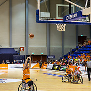 NLD/Rotterdam/20190706 - BN'ers spelen rolstoelbasketbal tijdens EK rolstoelbasketbal vrouwen, nr.15 Mariska Beijer