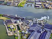 Nederland, Noord-Holland, Amsterdam, 07-05-2021; zicht op IJ en Mercuriushaven. Fosfaaweg en ICL Fertilizers Europe CV  in de voorgrond. Amsterdam-Noord met werf van Damen en Tuindorp Oostzaan in het verschiet.<br /> <br /> View of IJ and Mecuriushaven. Fosfaaweg and ICL Fertilizers Europe CV in the foreground. Amsterdam-Noord with the shipyard of Damen and Tuindorp Oostzaan in the distance.<br /> luchtfoto (toeslag op standaard tarieven);<br /> aerial photo (additional fee required)<br /> copyright © 2021 foto/photo Siebe Swart.