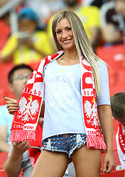 June 19, 2018 - Moscow, Russia - Group H Poland v Senegal  - FIFA World Cup Russia 2018 .Poland fan at Spartak Stadium in Moscow, Russia on June 19, 2018. (Credit Image: © Matteo Ciambelli/NurPhoto via ZUMA Press)