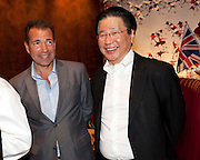 RICHIE NOTAR; BERNARD HENG, The Tomodachi ( Friends) Charity Dinner hosted by Chef Nobu Matsuhisa in aid of the Japanese Tsunami Appeal. Nobu Park Lane. London. 4 May 2011. <br /> <br />  , -DO NOT ARCHIVE-© Copyright Photograph by Dafydd Jones. 248 Clapham Rd. London SW9 0PZ. Tel 0207 820 0771. www.dafjones.com.