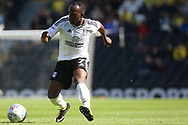 Fulham Midfielder Neeskens Kebano in action. EFL Skybet football league championship match, Fulham  v Norwich city at Craven Cottage in London on Saturday 5th August 2017.<br /> pic by Steffan Bowen, Andrew Orchard sports photography.