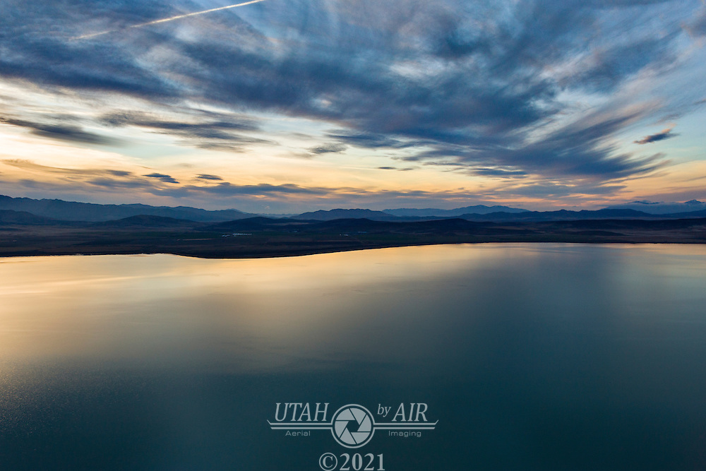 Sunset over Utah Lake