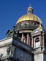 The beautiful St Isaacs cathedral in St Petersburg, Russia.