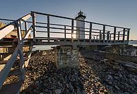 Sunrise at New Castle Coast Guard Lighthouse, New Castle New Hampshire  © Karen Bobotas Photographer