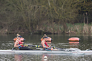 Caversham. Berkshire. UK<br /> Women's Pair, Bow Beth BRYAN and Jo WRATTEN, during the 2016 GBRowing U23 Trials at the GBRowing Training base near Reading, Berkshire.<br /> <br /> Monday  11/04/2016 <br /> <br /> [Mandatory Credit; Peter SPURRIER/Intersport-images]