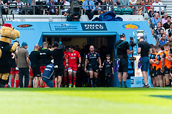Jack Yeandle of Exeter Chiefs enters the field - Mandatory by-line: Ryan Hiscott/JMP - 01/06/2019 - RUGBY - Twickenham Stadium - London, England - Exeter Chiefs v Saracens - Gallagher Premiership Rugby Final