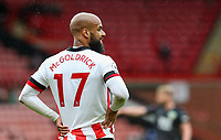 Sheffield United's David McGoldrick reacts<br /> <br /> Photographer Alex Dodd/CameraSport<br /> <br /> The Premier League - Sheffield United v Burnley - Sunday 23rd May 2021 - Bramall Lane - Sheffield<br /> <br /> World Copyright © 2021 CameraSport. All rights reserved. 43 Linden Ave. Countesthorpe. Leicester. England. LE8 5PG - Tel: +44 (0) 116 277 4147 - admin@camerasport.com - www.camerasport.com