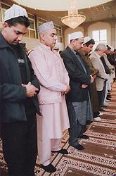 Worshipper inside mosque,