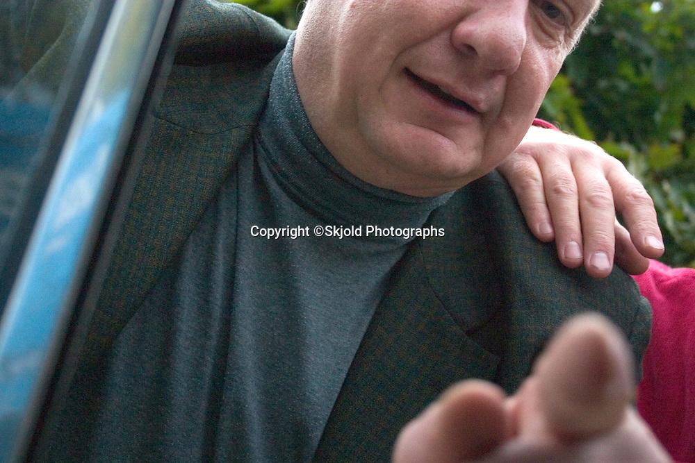 Friend in car window.  Lodz   Central Poland