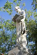 Statue of Francisco de Albear, historic district of Havana, Cuba