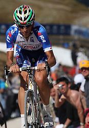 25/05/2010 Etape 16 - 93° GIRO D'ITALIA - Tour d'Italie - Contre la montre individuelle 12,9 km. San Vigilio Di Marebbe - Plan De Corones, Italy. .© Photo Pierre Teyssot / Sportida.com.POZZATO Filippo (ITA) KAT during the time trial, 16th stage on 25/05/2010, 2010 in Plan de Corones, Kron Platz, Italy.