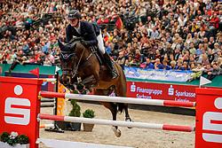 TEBBEL Maurice (GER), Don Diarado<br /> Leipzig - Partner Pferd 2020<br /> Longines FEI Jumping World Cup™ presented by Sparkasse<br /> Sparkassen Cup - Großer Preis von Leipzig FEI Jumping World Cup™ Wertungsprüfung <br /> Springprüfung mit Stechen, international<br /> Höhe: 1.55 m<br /> 19. Januar 2020<br /> © www.sportfotos-lafrentz.de/Stefan Lafrentz