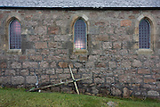 St Ernan's church, Fionnphort, Isle of Mull, Scotland. During the 1890s it was decided by the church on Iona that a Mission Chapel should be built at Creich in the Ross of Mull and dedicated to St Erana.  Ernan, formerly Prince of Donegal, was uncle to St Columba and one of a group of twelve followers who came with Columba to Iona to set up and manage the Iona Monastery. Through the efforts of the then parish minister, the Rev. Archibald MacMillan (his gravestone is in the church yard), money was raised to build the church.   Plans of the church were approved by Presbytery in 1897 and a site chosen to benefit the community.   It lies a mile outside Fionnphort, beside the A847 which connects with Bunessan and Craignure and above Loch Poit-na-h-I. http://www.mull-historical-society.co.uk/places-of-worship/bunessan/creich-church.htm