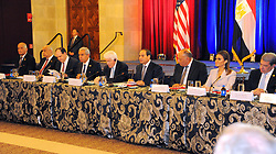 April 4, 2017 - Washington, Washington, United States of America - Egyptian President Abdel Fattah el-Sisi during his tour of the US Chamber of Commerce in Washington, United States on April 4, 2017  (Credit Image: © Egyptian President Office/APA Images via ZUMA Wire)