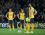 Arsenal's Mesut Ozil looks on dejected after going 2-0 down during the Premier League match at Selhurst Park Stadium, London. Picture date: April 10th, 2017. Pic credit should read: David Klein/Sportimage