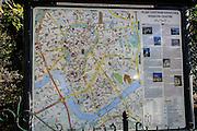 Tourist information map of Krakow, Poland