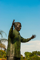 30 foot (9 meter) tall bronze statue of Nelson Mandela, Union Buildings in , Pretoria (Tshwane), South Africa.