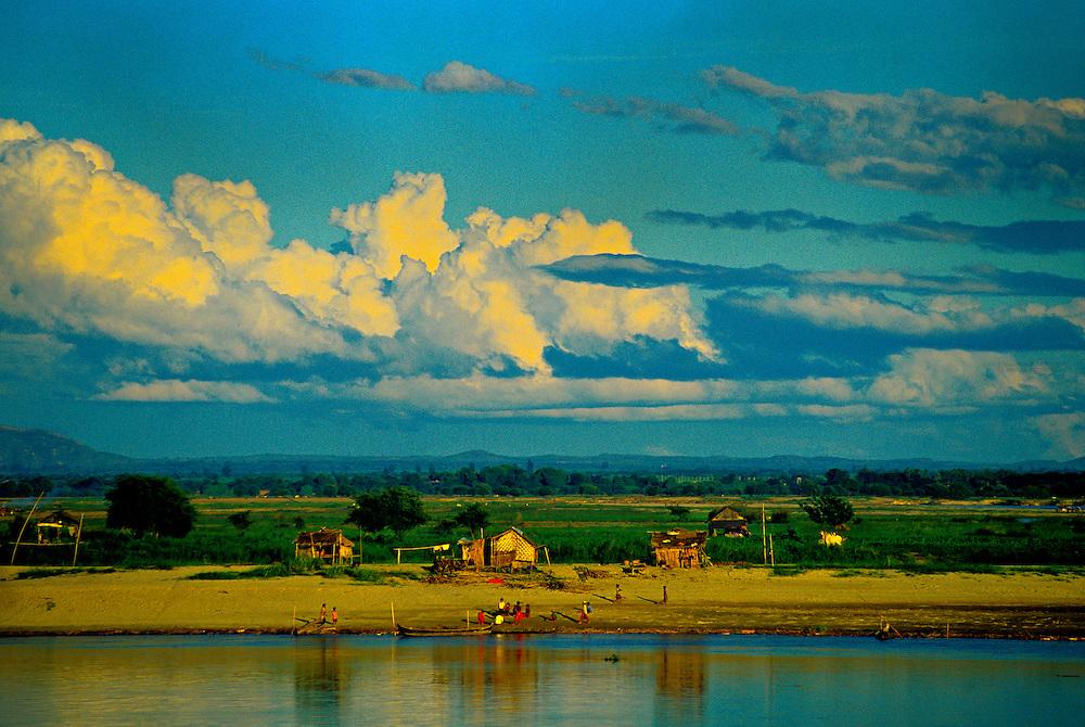 On the Ayeyarwady River between Bagan (Pagan) and Mandalay, Burma (Myanmar)