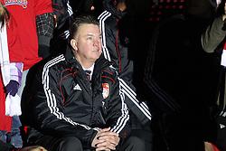 11.12.2010, Allianz Arena, Muenchen, GER, 1.FBL, FC Bayern Muenchen vs  FC St. Pauli, im Bild Louis van Gaal (Trainer Bayern) auf der buehne , EXPA Pictures © 2010, PhotoCredit: EXPA/ nph/  Straubmeier       ****** out ouf GER ******