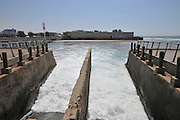Israel, Tel Aviv, The Reading Power Station the cooling water outflow