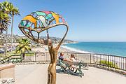 Sea Breeze Bronze Sculpture Overlooking at the Ocean