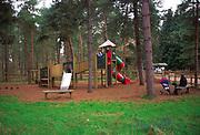 A07WTA Children's playground Rendlesham forest Suffolk England