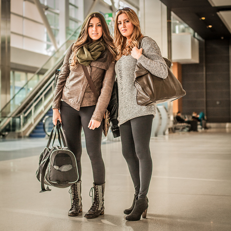 Kristina Perkovic and her daughter Channel at the Detroit Metro Airport, Michigan  cperkovic@gmail.com