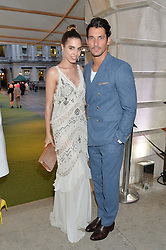 AMBER LE BON and DAVID GANDY at the annual Royal Academy of Art Summer Party held at Burlington House, Piccadilly, London on 4th June 2014.