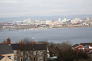 Cardiff Bay from Penarth, South Wales,