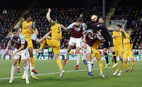 Burnley's James Tarkowski see's his headed effort stopped by Brighton & Hove Albion's Matthew Ryan<br /> <br /> Photographer Rich Linley/CameraSport<br /> <br /> The Premier League - Burnley v Brighton and Hove Albion - Saturday 8th December 2018 - Turf Moor - Burnley<br /> <br /> World Copyright © 2018 CameraSport. All rights reserved. 43 Linden Ave. Countesthorpe. Leicester. England. LE8 5PG - Tel: +44 (0) 116 277 4147 - admin@camerasport.com - www.camerasport.com