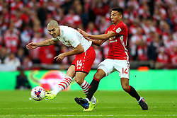 Oriol Romeu of Southampton is challenged by Jesse Lingard of Manchester United  - Mandatory by-line: Matt McNulty/JMP - 26/02/2017 - FOOTBALL - Wembley Stadium - London, England - Manchester United v Southampton - EFL Cup Final