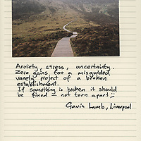 Public participation pages from photography project The Invisible In-between: An Englishman's Search For The Irish Border.