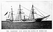USS Hartford, a sloop-of-war, steamer, was the first ship of the United States Navy named for Hartford, the capital of Connecticut. Hartford served in several prominent campaigns in the American Civil War as the flagship of David G. Farragut, most notably the Battle of Mobile Bay in 1864. She survived until 1956, when she sank awaiting restoration at Norfolk, Virginia. from the book ' The Civil war through the camera ' hundreds of vivid photographs actually taken in Civil war times, sixteen reproductions in color of famous war paintings. The new text history by Henry W. Elson. A. complete illustrated history of the Civil war