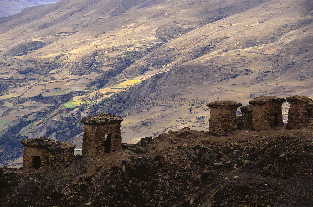 Ancient Inca 'Chullpas' or Burial Towers<br />