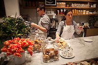 Alison Schneiderm, right, owner of Haven's Kitchen in New York City...Photo by Robert Caplin.