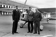 27/05/1962<br /> 05/27/1962<br /> 27 May 1962<br /> Mr Mark Downey at Dublin Airport. Picture shows Mr Denis Leonard; Mr Mark Downey and Mr Jack Gough.
