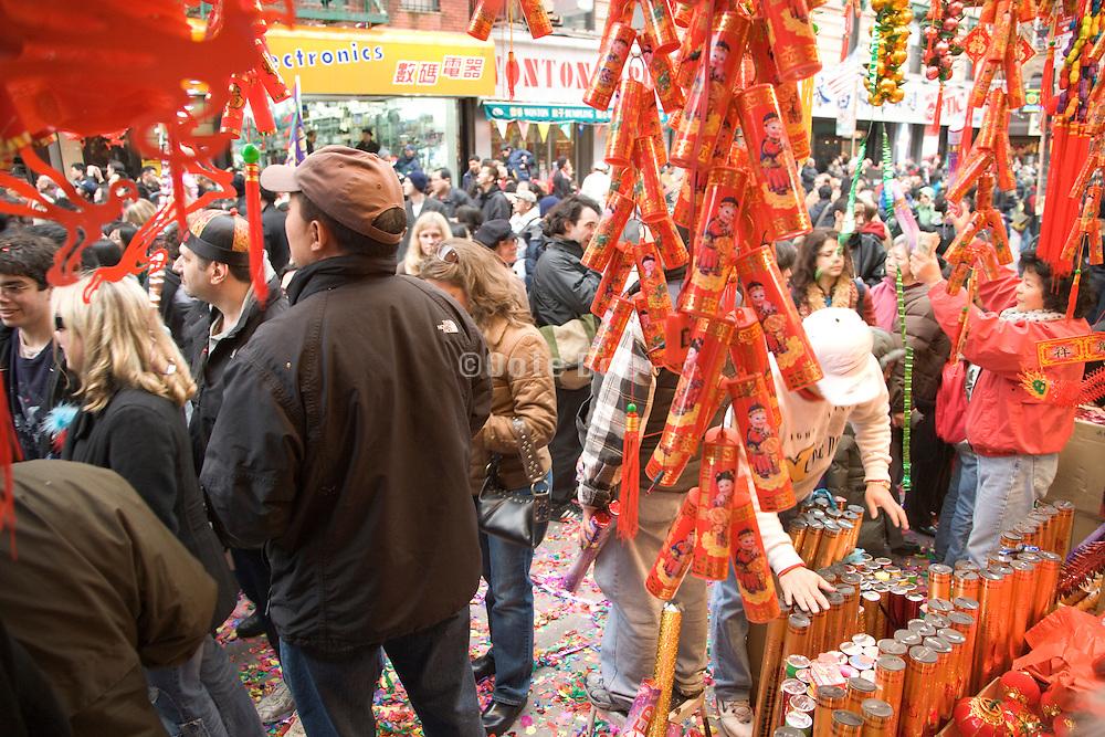 Chinese New Year celebration China town New York City