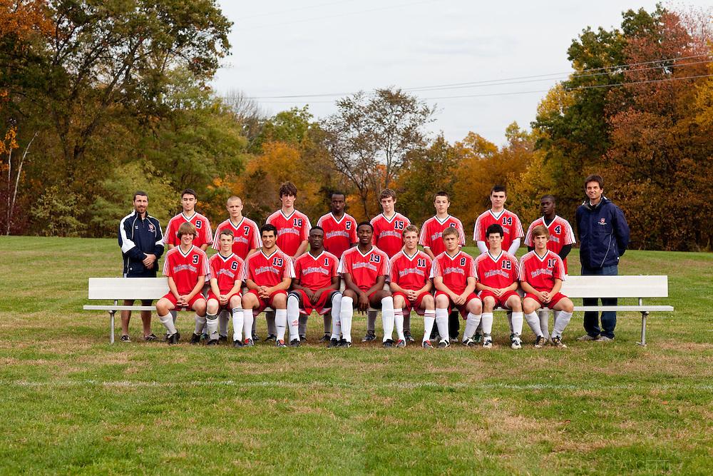 The Master's School, West Simsbury, CT. 2010-2011. Boys Varsity soccer.  (Photo by Robert Falcetti). .