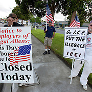 Members of the San Diego Minute Men (SDMM) gather in San Diego at the site where day laborers congregate in hopes of driving them off and keeping them from obtaining work. Please contact Todd Bigelow directly with your licensing requests.