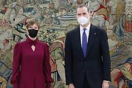 030821 King Felipe VI attends a meeting with President of the Republic of Estonia, Ms. Kersti Kaljul