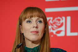 © Licensed to London News Pictures. 18/01/2020. Liverpool. Labour MP and deputy leadership contender Angela Rayner looks on  at a Labour Party leadership hustings at King's Dock Arena in Liverpool. Photo credit: Ioannis Alexopoulos LNP