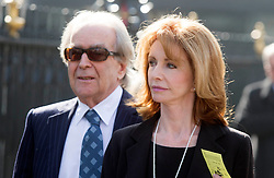 David Frost Memorial Service at Westminster Abbey<br /> Jane Asher and Gerald Scarfe<br /> <br /> <br /> <br /> <br /> Pic by Gavin Rodgers/Pixel 8000 Ltd © Licensed to London News Pictures. Photo credit: Gavin Rogers/LNP