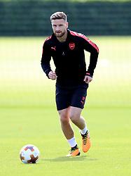 Arsenal's Shkodran Mustafi during the training session at London Colney.