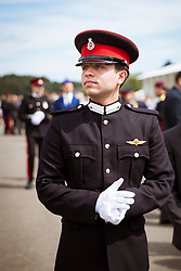 Jordan's Crown Prince Hussein Bin Abdullah (son of King Abdullah II and Queen Rania), during Cadets Parade and graduation ceremony at Royal Military Academy Sandhurst (RMAS), known as Sandhurst, on August 11, 2017, in Camberley, south west of London, United Kingdom. Photo by Balkis Press/ABACAPRESS.COM