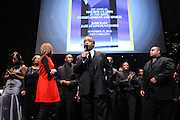 """15 November 2010- New York, NY- Rev. Al Sharpton and National Action Network Choir at The National Action Network's 1st Annual Triumph Awards honoring """"Our Best"""" in the Arts, Entertainment, & Sports held at Jazz at Lincoln Center on November 15, 2010 in New York City. Photo Credit: Terrence Jennings"""