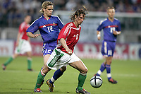 Fotball<br /> Privatlandskamp<br /> Frankrike v Ungarn<br /> 31.05.2005<br /> Foto: Dppi/Digitalsport<br /> NORWAY ONLY<br /> <br /> GABOR VINCZE (HUN) / JEROME ROTHEN (FRA)