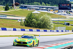 09.06.2017, Red Bull Ring, Spielberg, AUT, ADAC GT Masters, Spielberg, Training, im Bild Indy Dontje (NED)/Marvin Kirchhoefer (GER) Mercedes AMG Team HTP Motorsport // Dutch ADAC GT Masters driver Indy Dontje/German ADAC GT Masters driver Marvin Kirchhoefer of Mercedes AMG Team HTP Motorsport during the practice for ADAC GT Masters at the Red Bull Ring in Spielberg, Austria on 2017/06/09. EXPA Pictures © 2017, PhotoCredit: EXPA/ Dominik Angerer