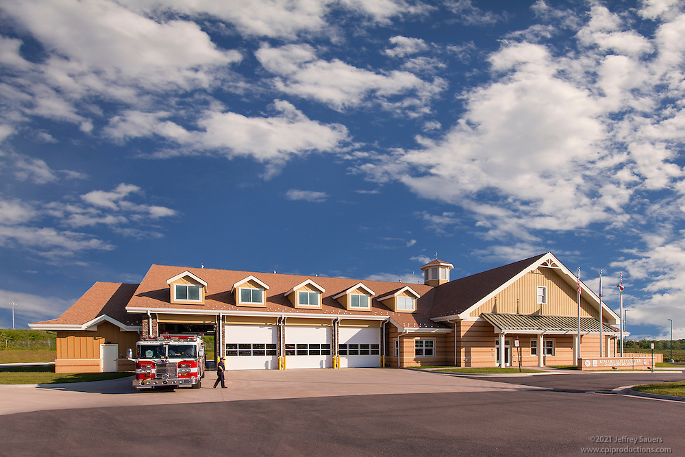 Exterior image of the Kincora Safety Center in Sterling Virginia by Jeffrey Sauers of Commercial Photographics